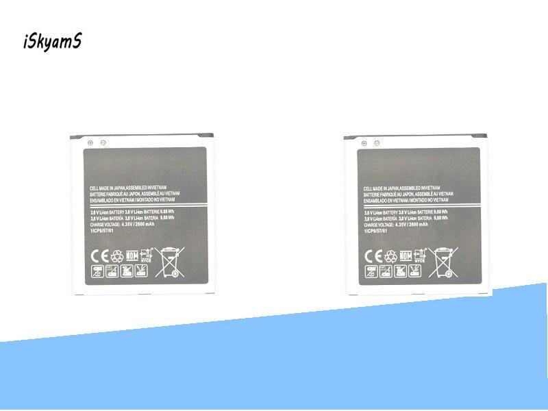 iSkyamS 2x 2600mAh EB-BG530BBC Battery For Samsung G5308W G5309W G530F G531H G5306 J5 J5000 J5008 J5009 J500H J500F J3 J3109