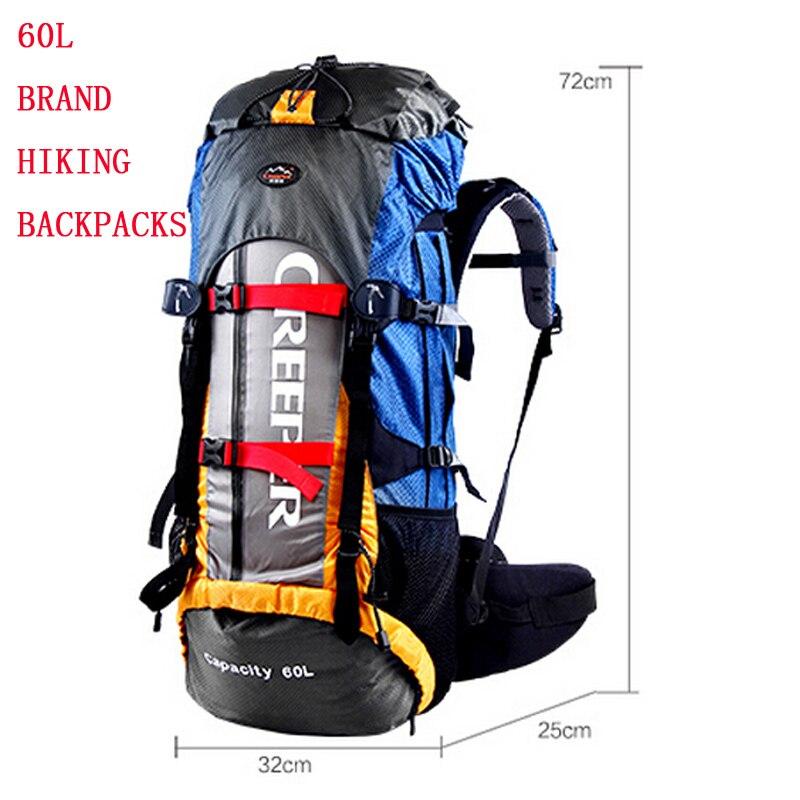 Precio más bajo nueva mochila 60 L mochilas hombres y mujeres bolsas de viaje Softback resina malla montañismo impermeable grande
