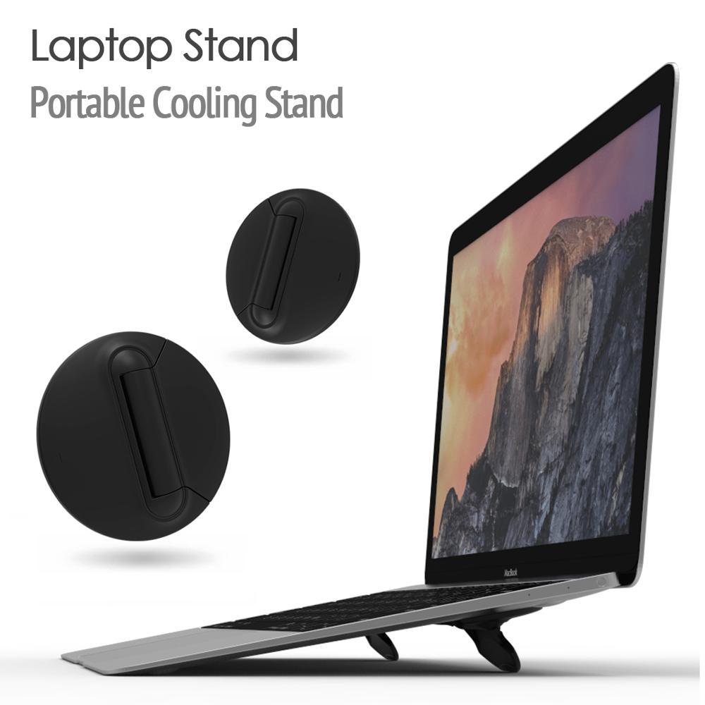 Negro Universal portátil plegable portátil soporte apoyo soporte 10-17 pulgadas portátil refrigerador portátil soporte