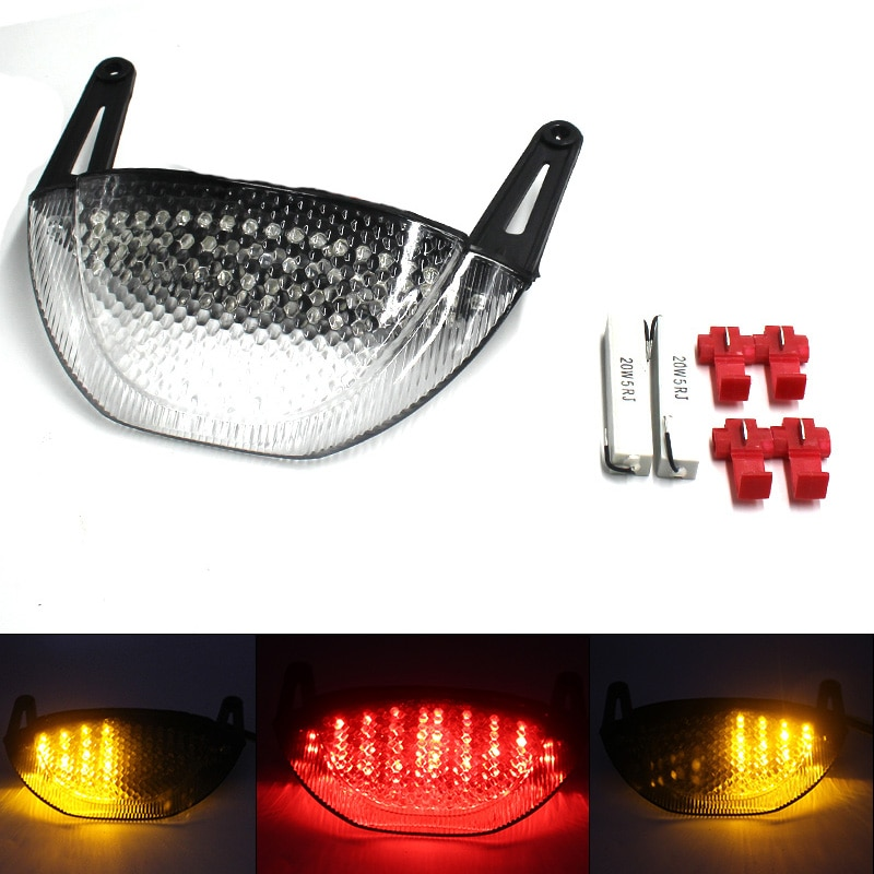 E-Mark-مصباح إشارة الانعطاف للسيارة ، مصباح خلفي LED مدمج لهوندا CBR600RR CBR 600 RR CBR600 RR 2007 2008 2009 2010 2011 2012