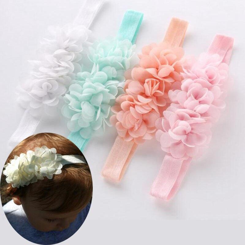 Novo chiffon laço flor do bebê bandana bonito menina headbands crianças meninas faixa de cabelo haarband acessórios headwear recém-nascido cabeça banda