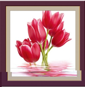 Free shipping!Flower Series - Charming Tulips Diy 3D Full Drill Diamond Painting Cross Stitch Pasted Painting