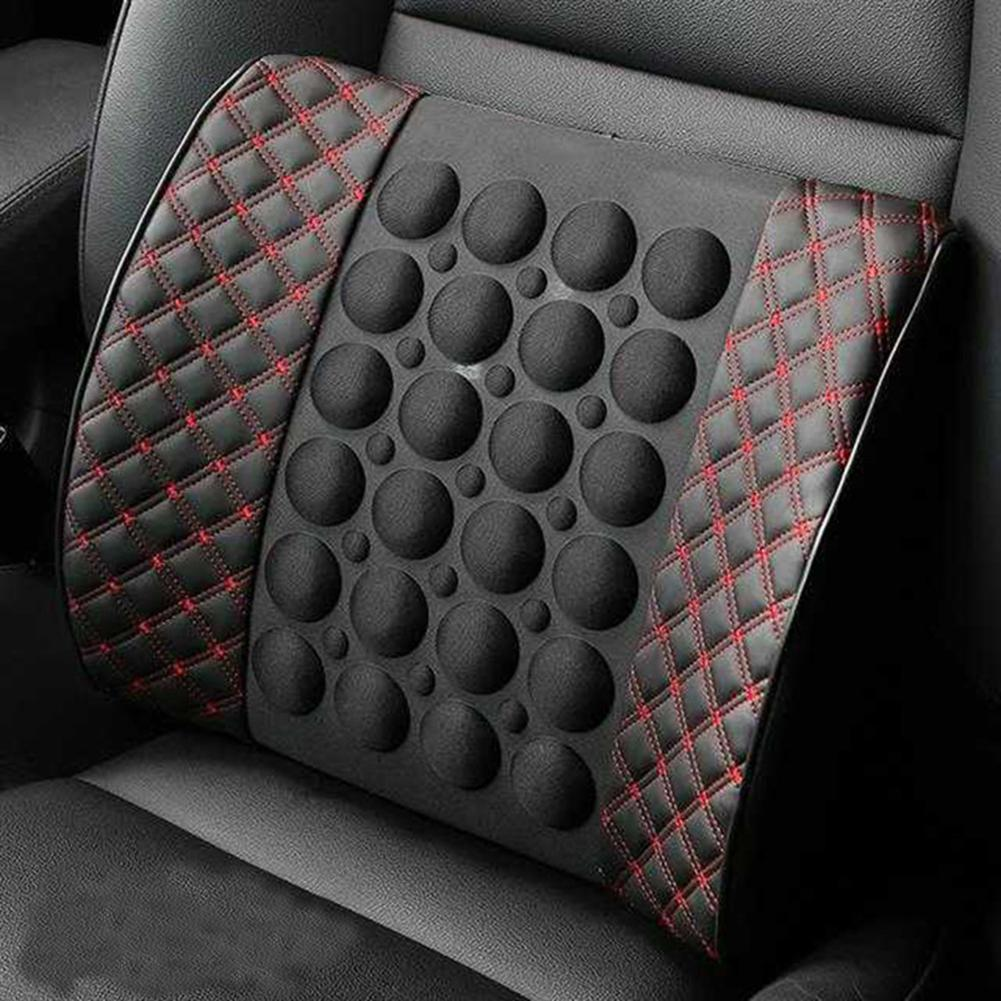 Car Electric Massage Cushion Vehicle Seat Back Waist Support Lumbar Pad Massager
