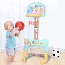 Children Gift Basketball Stand Indoor Sports Basketball Hoop Toy Set Ball Backboard Kit Football Mini Goal gate Shooting Frame