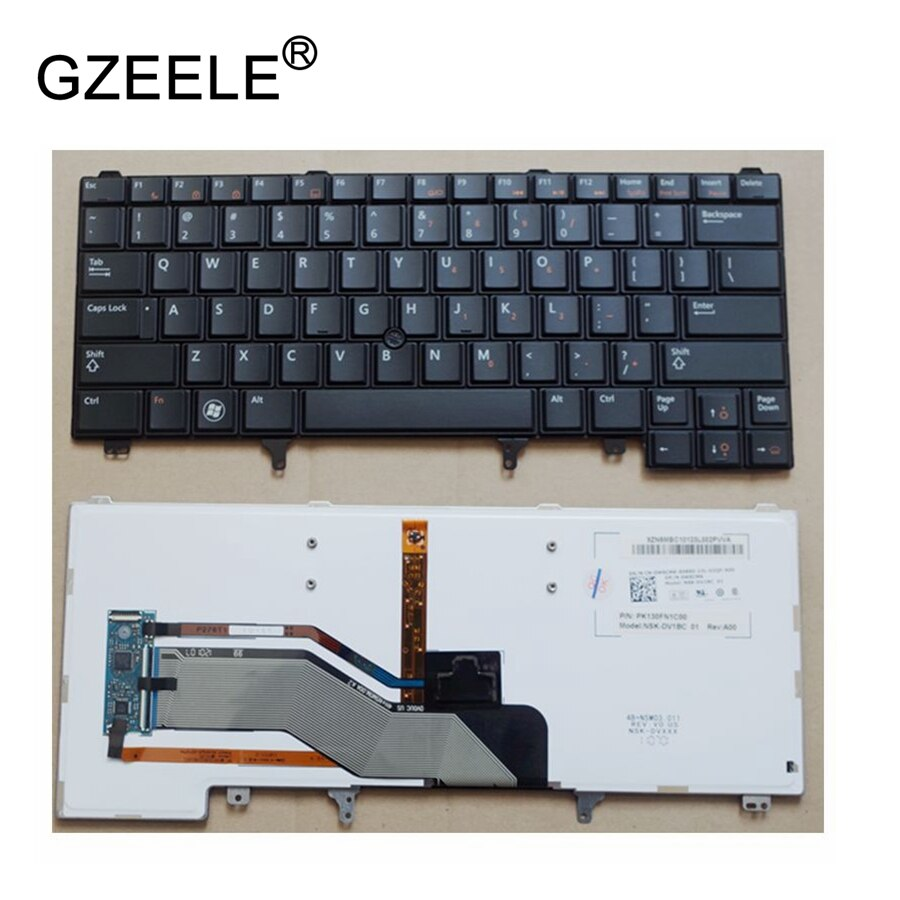 GZEELE новая клавиатура для Dell Latitude E6420 E6430 E6440 XT3 раскладка в США черного цвета с подсветкой
