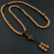 8mm naturel 5 pétales Rudraksha perles Bracelet de prière ou collier Yoga méditation brin Mala mode hommes bijoux en gros