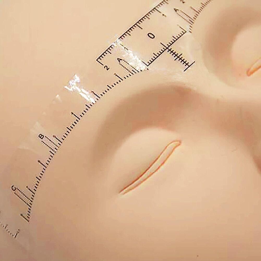 10 pièces Microblading règle jetable autocollant maquillage Permanent sourcil outil de tatouage