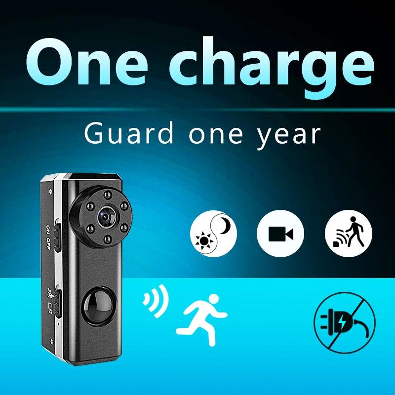 PIR HD1080P Mini Kamera Tragbare Kamera Versteckte Nanny Cam Video Recorder Camcorder Eingebauten 3300 mAh Batterie 1 Jahr Lange Standby
