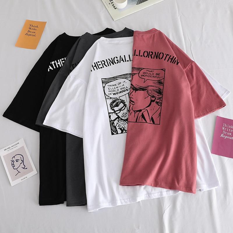 Impresión de anime japonés camisetas gráficas mujeres camisas Ulzznag manga corta verano camiseta Tops harajuku suelta Unisex ropa informal estilo Hip Hop