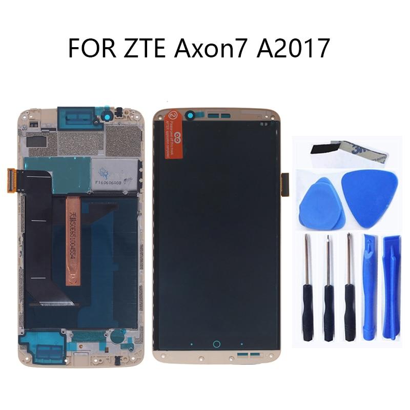 Оригинальный ЖК-дисплей AMOLED для zte Axon 7
