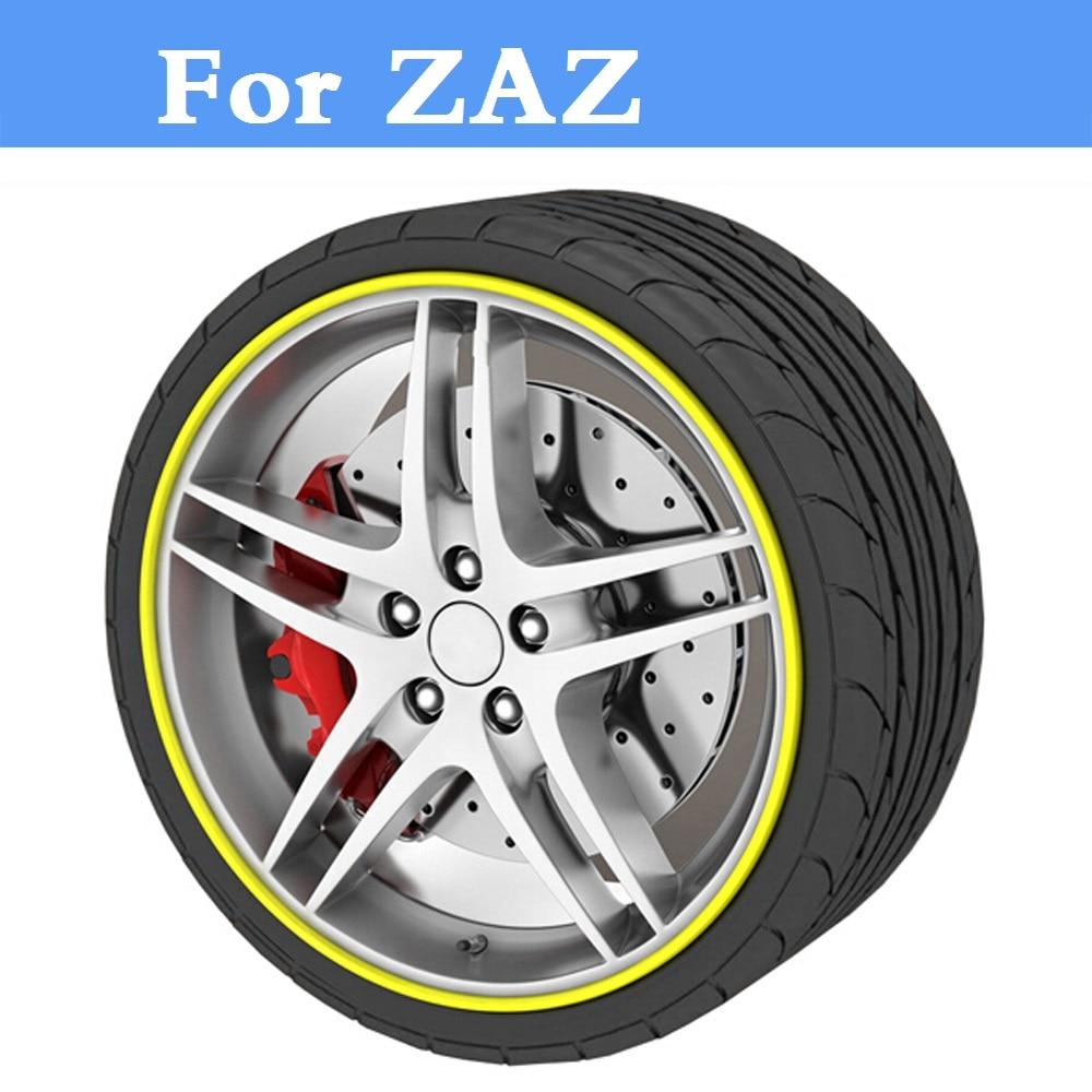 8 Meters/Roll Car Styling Rim Wheel Hub Sticker Protector For ZAZ 1102 Tavria 1103 Slavuta 1105 Dana Chance Forza Nova Sens Vida