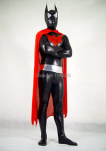 Batman au-delà Costume brillant Batman super-héros Costumes avec Cape rouge