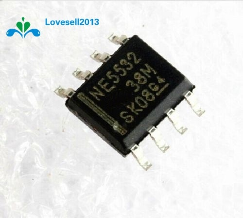 10 pcs NE5532 N5532 SOP-8 SMD Dual Low Noise-Op Amp IC