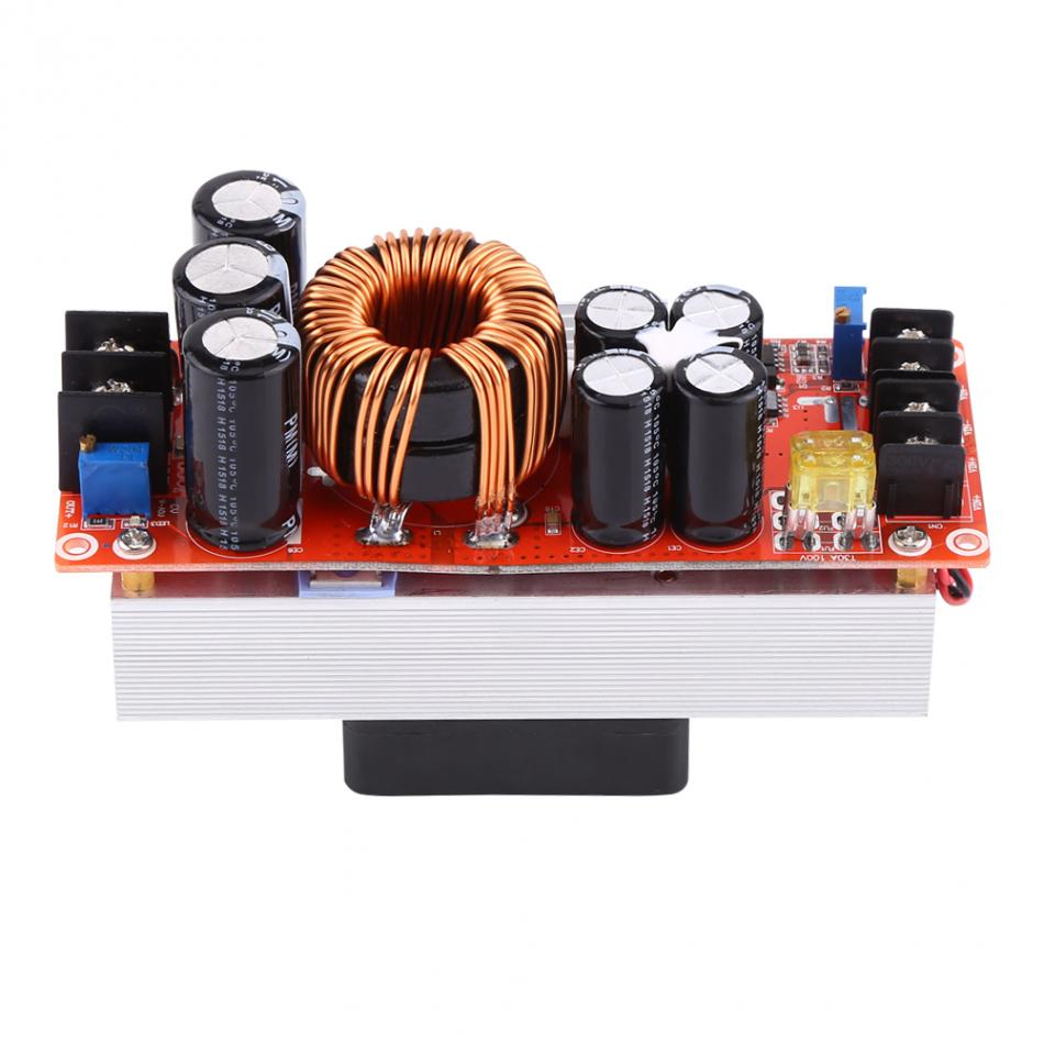 1500W 30A DC-DC impulso convertidor Boost módulo DC10-60V a DC12-90V con ventilador de refrigeración