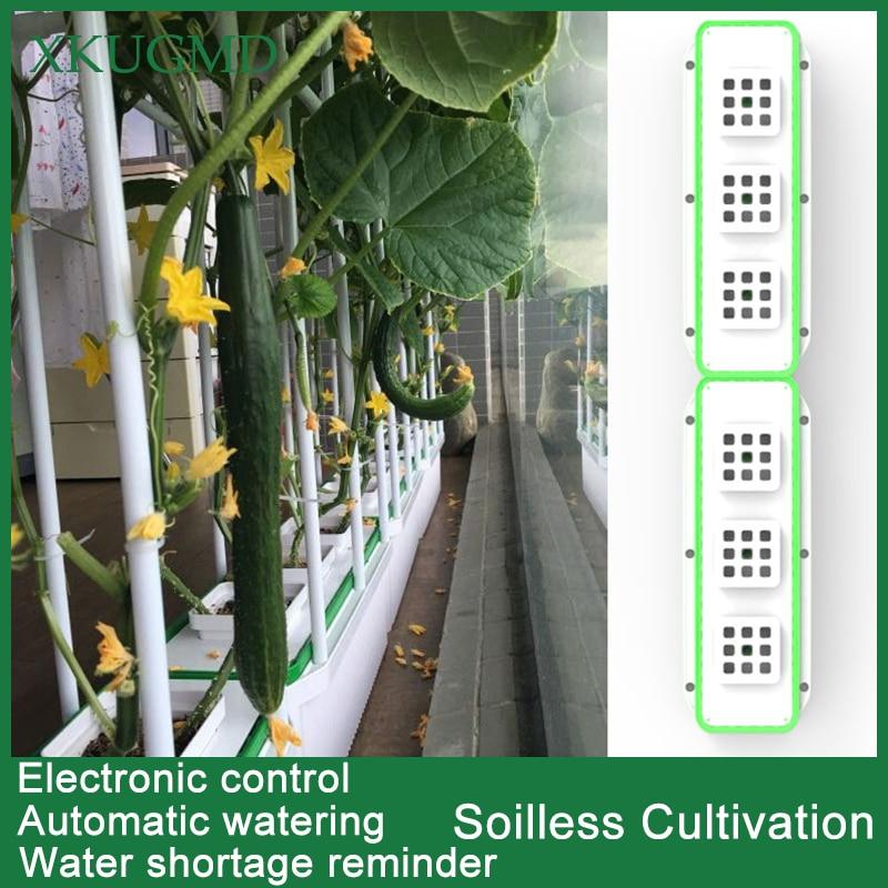 Boîte de plantation   Pot de fleurs de balcon, Machine à cultiver des légumes hydroponiques dintérieur, jardin de légumes organiques, stockage de légumes