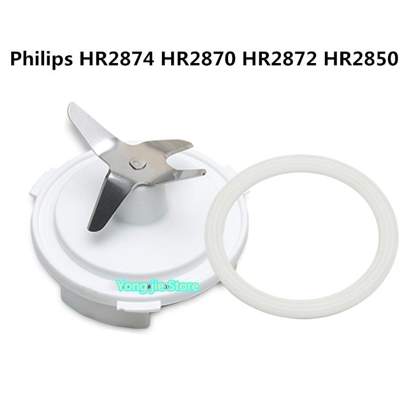 سكين خلط المنتج الأصلي + حلقة لإحكام الإغلاق مناسبة لقطع غيار خلاط فيليبس HR2874 HR2870 HR2872 HR2850