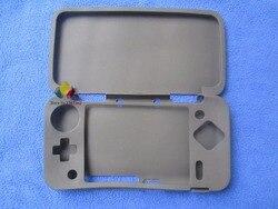 1 x Para Novo 2DS XL/LL Protetor De Borracha Macia Capa De Silicone Fino PARA CIMA + Inferior Shell Capa Para controlador de Nintendo Novo 2 DSXL