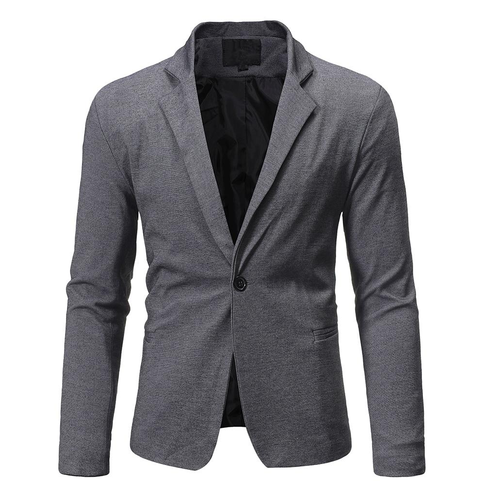 New Fashion Brand Blazer Mens British Style Casual Slim Fit Suit Jacket Men Blazers Men Terno Coat M
