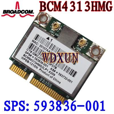 Broadcom 4313 Wi-fi Cartão 593836-001 BCM94313HMG2LP1 593836-001 DM1 DM2 DM3 DM4 MINI 110 G72 DV7 BCM4313