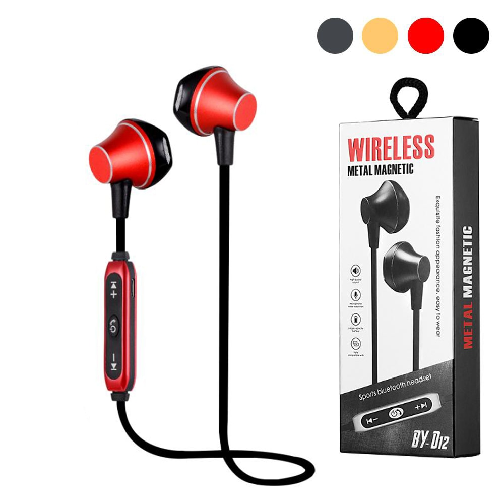 Vitog D12 Magnetic Wireless Bluetooth Earphones In-Ear Stereo BT 4.2 wireless earbuds Headset for iphone samsung enlarge