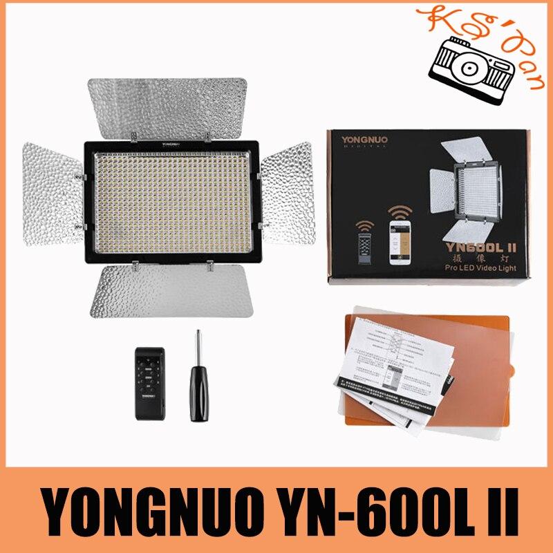 Yongnuo YN600 II YN600L II 5500K Светодиодная лампа для видеосъемки Поддержка дистанционного управления по телефону приложение для интервью