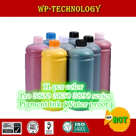 8PK traje de tinta de pigmento para EPSON 3880 pro 3800 serie 3850 impresora 1000 mL por color tinta a prueba de agua para T5801 y T5811 sereis