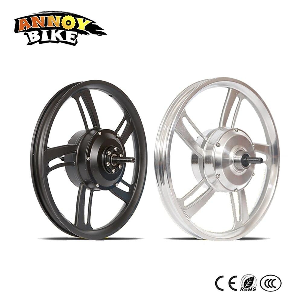 """Nova roda elétrica legal 16 """"dobrável bicicleta roda 36v 48v 350w roda do motor elétrico para carrinho de mão"""