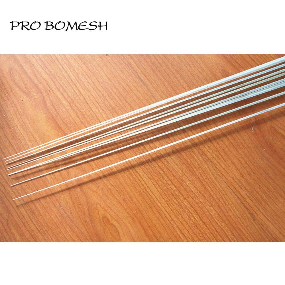 Pro Bomesh, 2 unidades/lote, 1,2 M, 1 Sección, fibra de vidrio sólido, caña para balsa de mar en blanco, caña para balsa en blanco, DIY, reparación de varilla de construcción