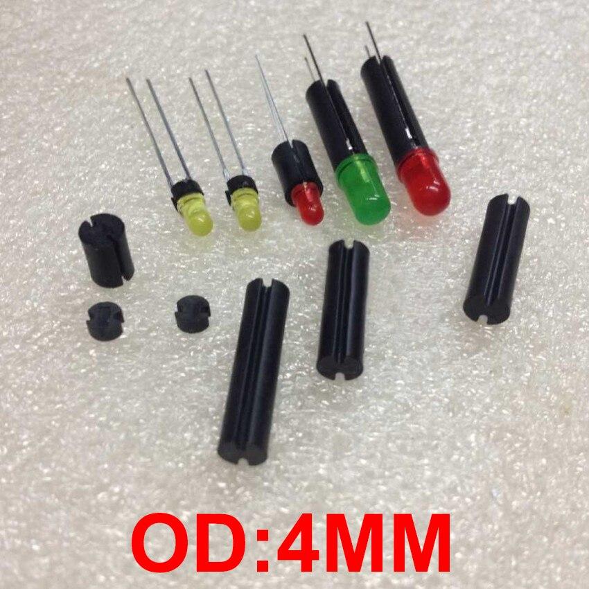 1000 piezas 4*2,5 4x2,5 OD * L negro dos Pit 2 ranura PCB tablero cilindro redondo soporte de montaje LED columna de aislamiento espaciador
