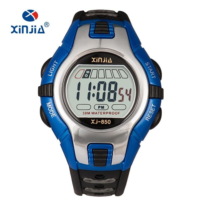 Высококачественные модные повседневные спортивные цифровые часы, женские водонепроницаемые многофункциональные детские часы, детский секундомер, для девочек и мальчиков