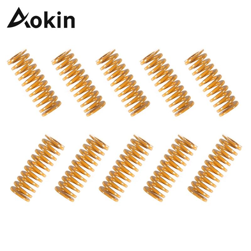 Aokin, piezas de impresora 3D, resortes para cama climatizada MK3 CR-10 cama de calentamiento, longitud importada 25mm OD 8mm ID 4mm, resorte de ender-3 para impresora 3D