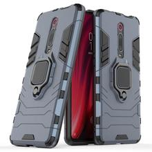 Rüstung Auto Halter Magnet Ring Telefon Fall PC + Silikon Abdeckung Auf Für Xiao mi mi 9 SE 9T pro mi 9 9SE mi 9t t Globale 64/128/256 GB Xio mi