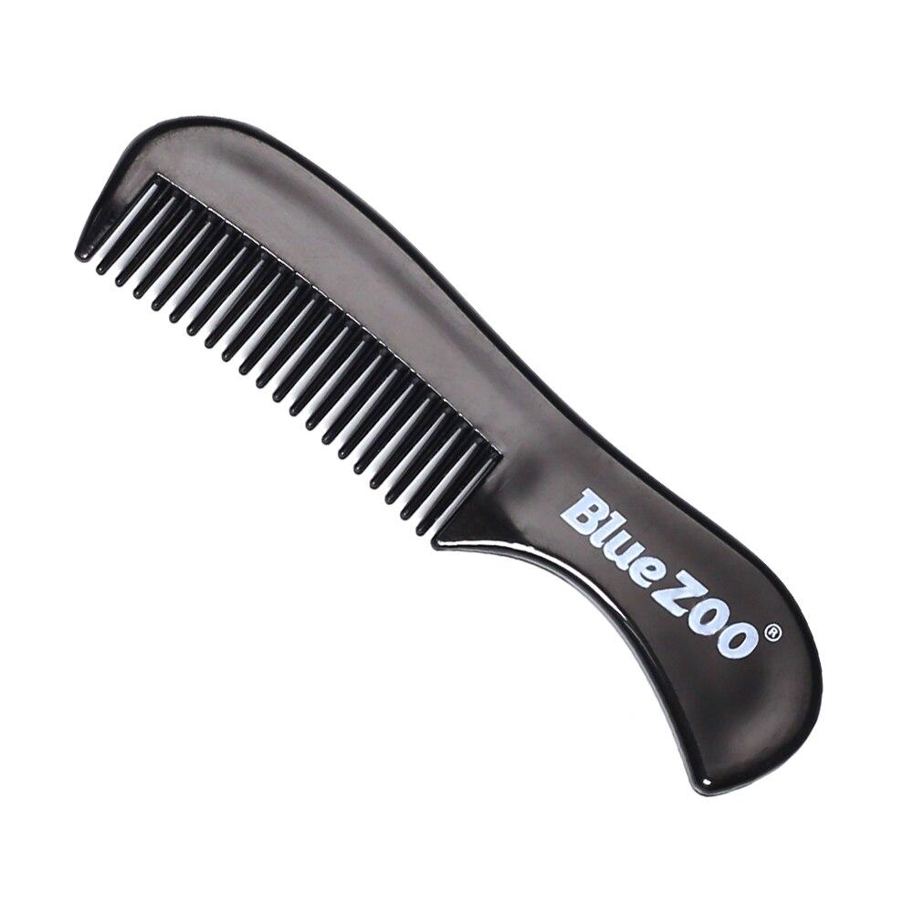 Zoológico azul Anti-estática Do Cabelo Pente Pentes Escovas Mini Double Side Pro Barba Comb Styling Salon Ferramentas de Massagem Chuveiro pente Salão de Beleza 8012