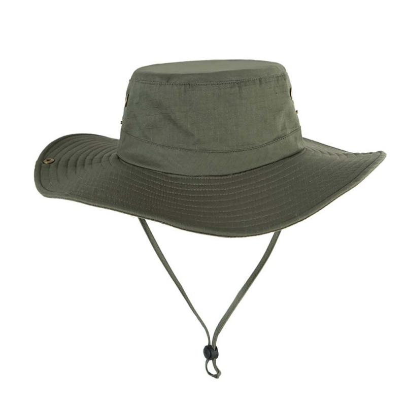 UPF50 + sombrero de los hombres de sombrero con forma de cubo para mujer verano gorra para senderismo y Pesca de ala ancha protección UV sombrero abatible