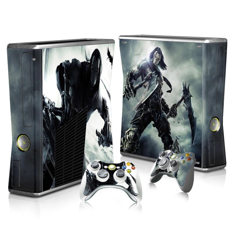 ¡Oferta! Funda de vinilo para Xbox 360, consola delgada, película protectora decorativa para Xbox 360 Slim TN-XB360-3334