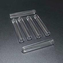 50pcs/lot 13*78mm U shaped bottom Plastic test tubes for kinds of Laboratory Tests