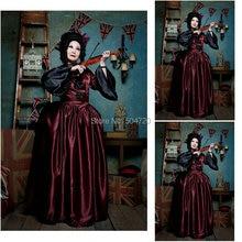 أزياء عتيقة من Custom-madeR-738 لعام 1860 لباس حفل زفاف بحرب أهلية جنوب حسناء/فستان لوليتا قوطي فساتين فيكتورية