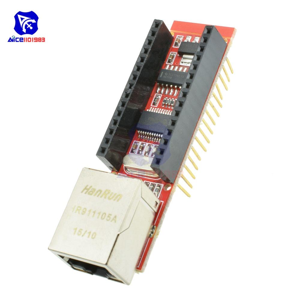 Nano ENC28J60 Ethernet щит V1.0 плата для Arduino микрочип HR911105A RJ45 Nano V3 Ethernet веб-сервер плата модуль