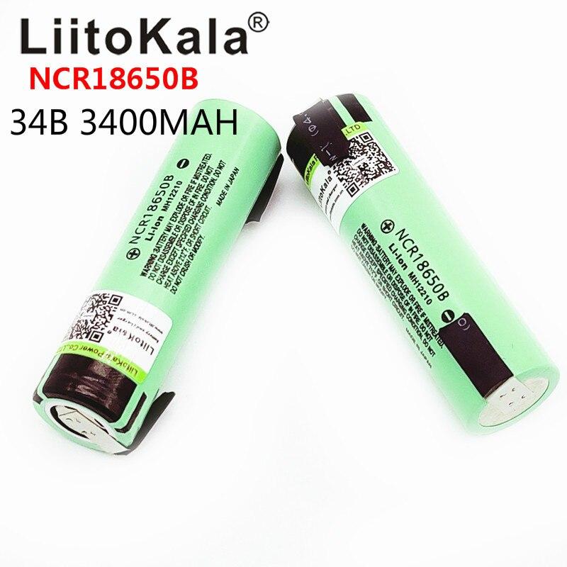 2019 Liitokala nuevo original NCR18650B 3,7 V 18650 3400mAh 18650 batería de litio recargable + pieza de níquel de DIY