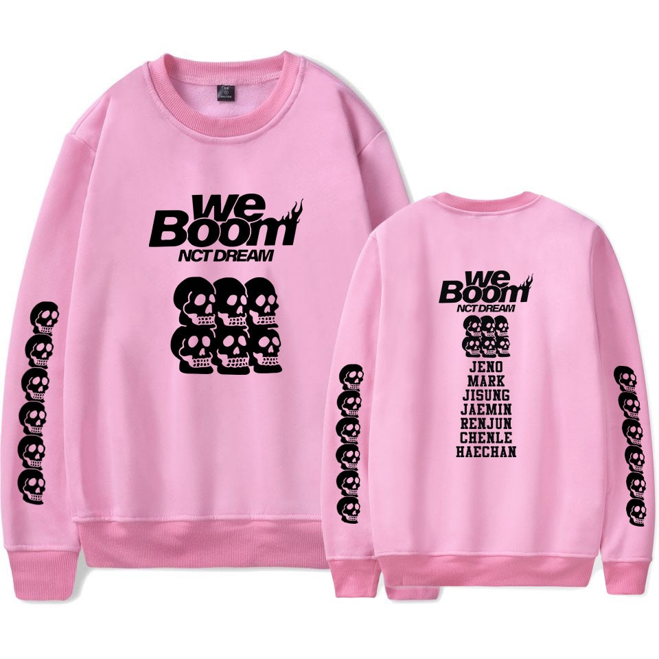 Fadun nuevo NCT Dream Kpop We Boom álbum cuello redondo Cool sweatshirt mujeres/hombres gran oferta sin tapa mangas largas kpops sudadera