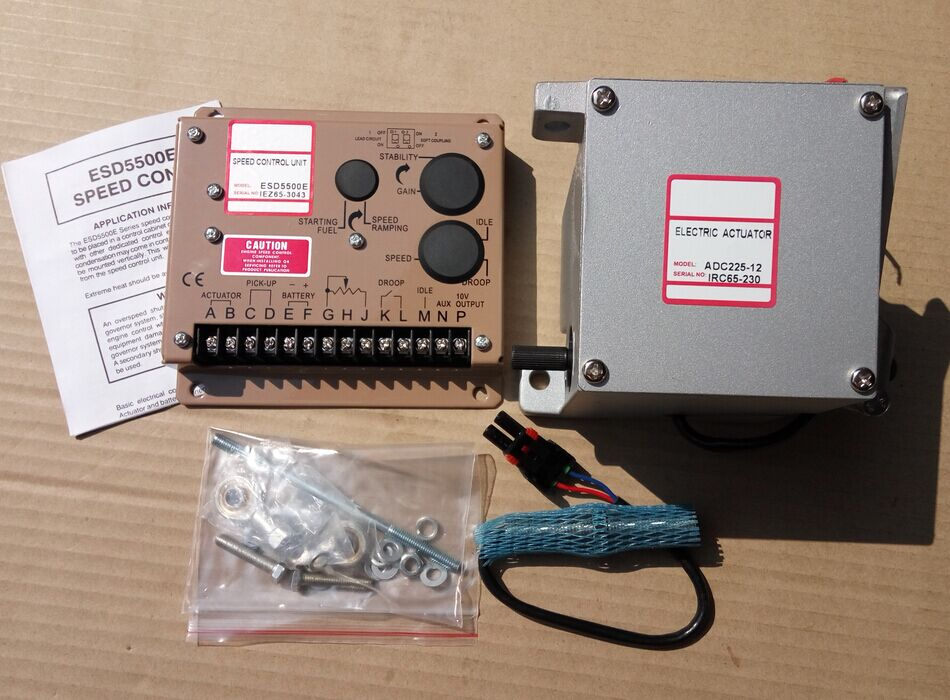 Regulador de velocidad de la serie ESD5500E con el actuador del generador ADC225 (12 V o 24 V) ADC225-12 y sensor de velocidad 3034572