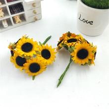 Petit bouquet de tournesol   Petite fleur ~ belle fleur de tournesol de simulation, simulation de fleurs artificielles