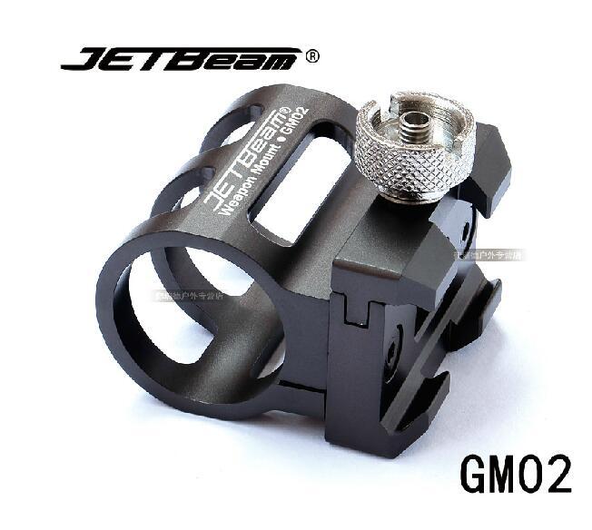 Jetbeam gm02 arma de montagem RRT-2 diâmetro adequado 25mm led lanterna pistola picatinny weaver ferroviário