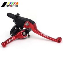 Moto ASV F3 ShortAlloy frein embrayage guidon leviers pour SSR YZF WR CRF SDG XR 2ND Pitbike saleté Pit Bike Motocross rouge