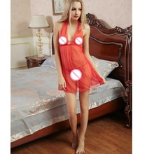 Best seller embroidery Women sexy lady perspective lure pajamas Women Sleepwear Nightwear Erotic lingerie