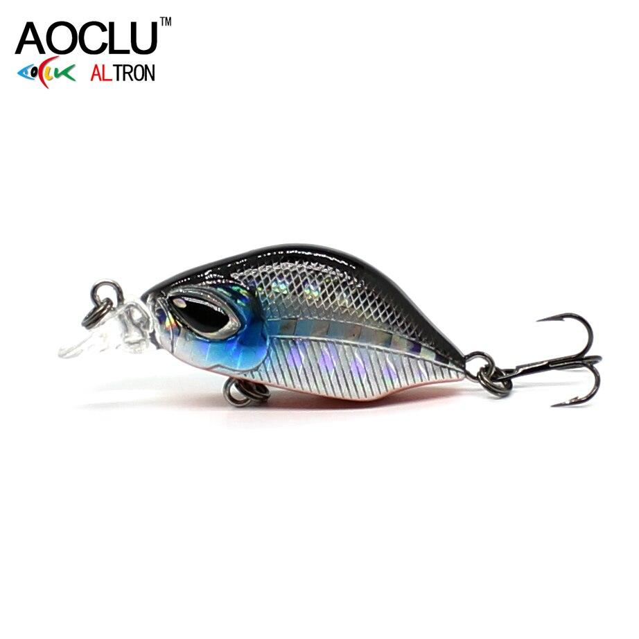 AOCLU воблеры 6 видов цветов 3 см 3,0 г Тонущая твердая приманка VIB Minnow Crankbait рыболовные приманки Bass 14 # VMC Крючки снасти Бесплатная доставка
