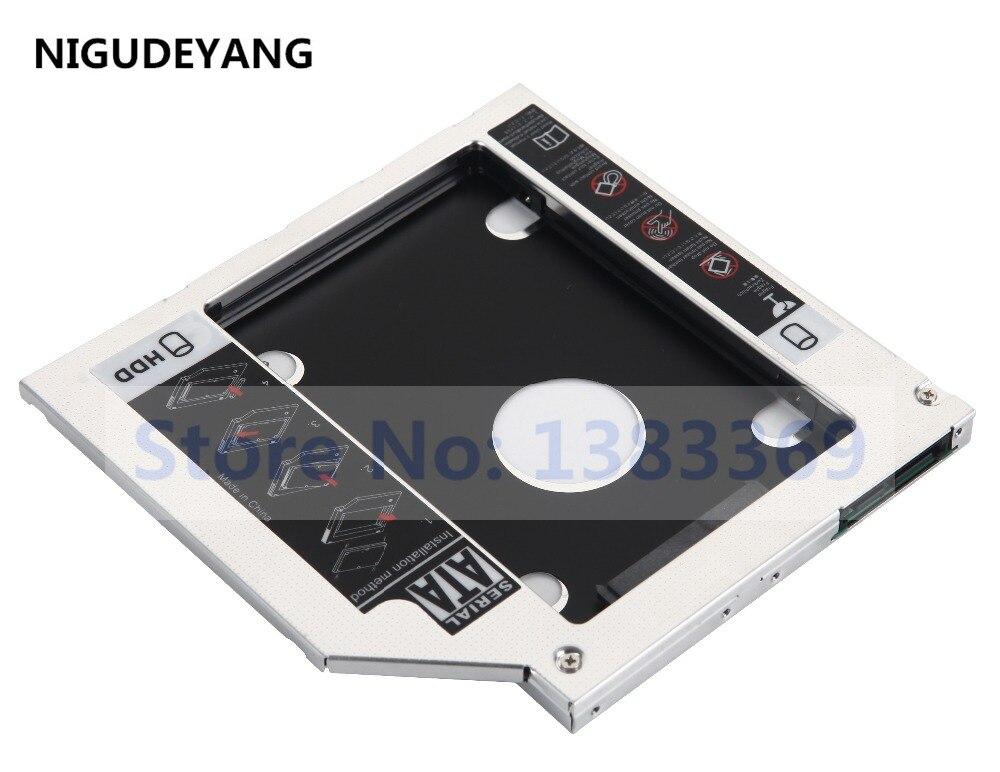 NIGUDEYANG 2nd HDD SSD Hard Disk Drive Adapter Caddy para Dell Inspiron 15 14Z 17 5000 7000 5748 5749 5758 15Z 5523 5423