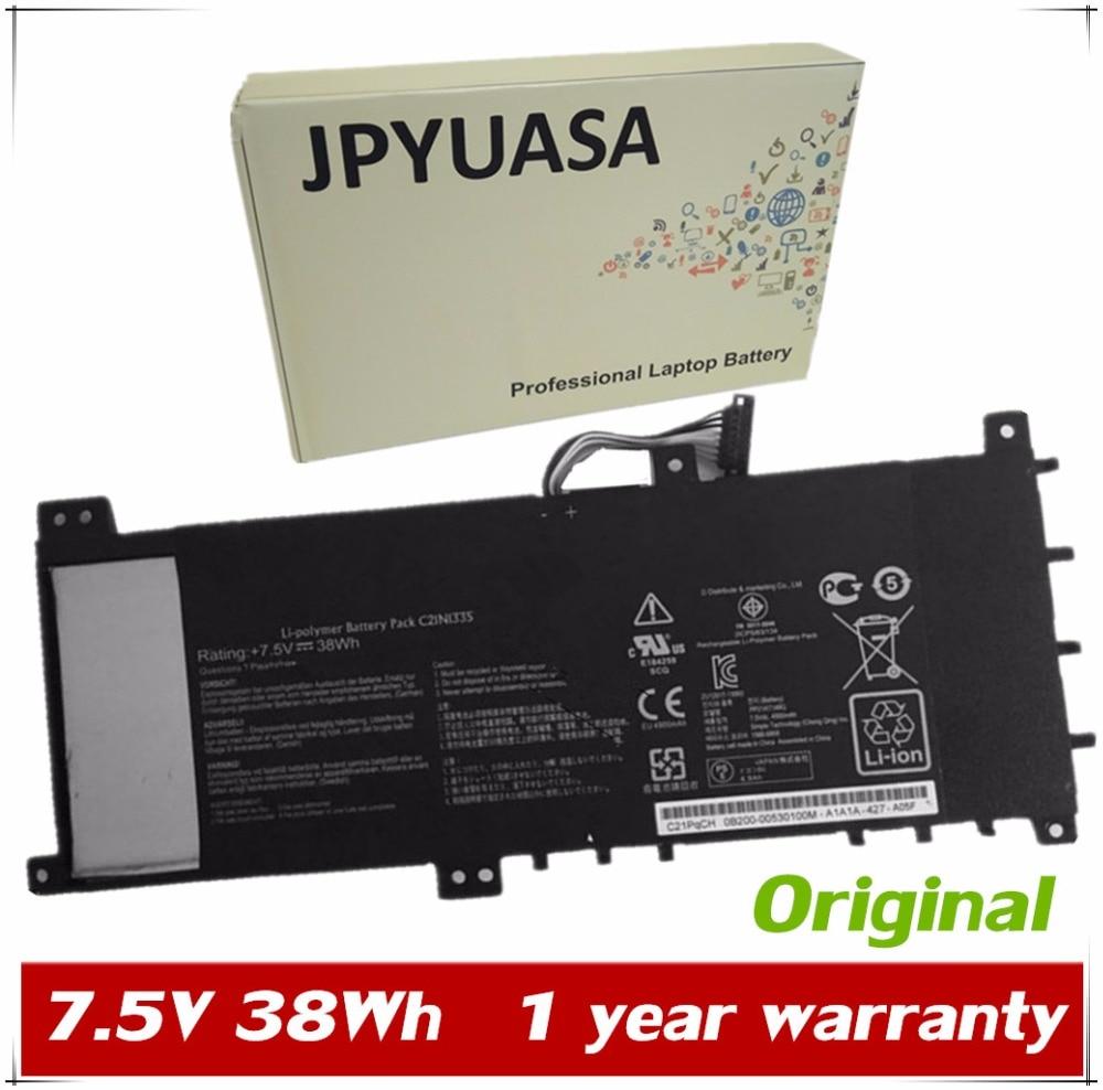 7XINbox 7,5 V 38Wh C21N1335 batería de portátil para Asus VivoBook S451 S451LA S451LB S451LN V451L CS-AUS451NB C21PqCH 0B200-00530100