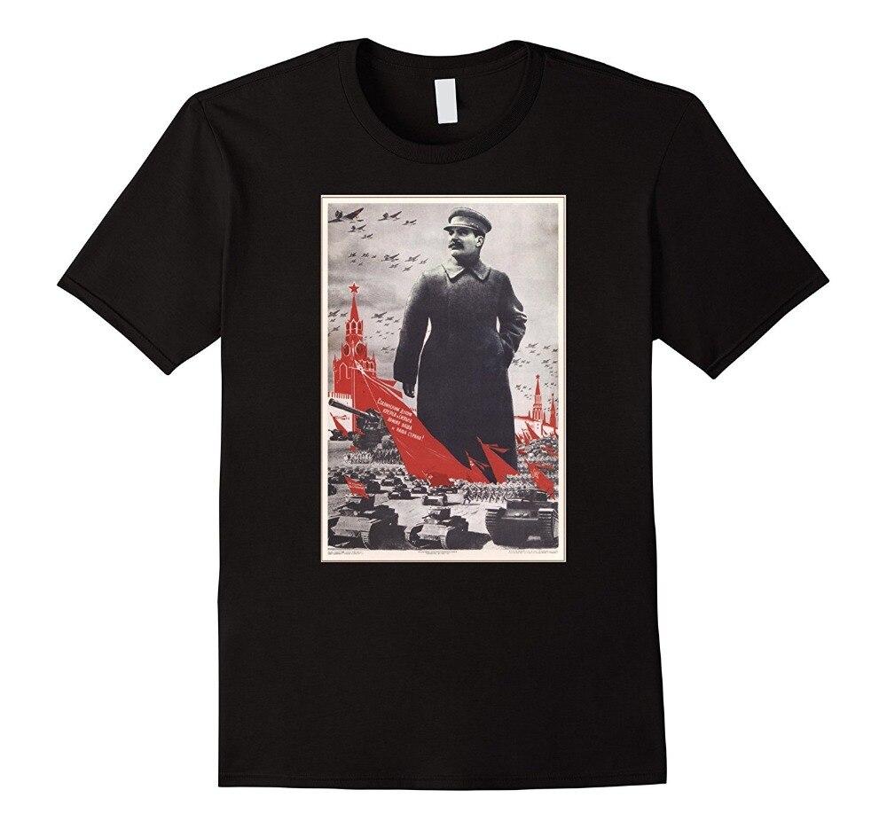 2019 moda caliente Joseph Stalin Vintage USSR Retro cartel soviético camiseta