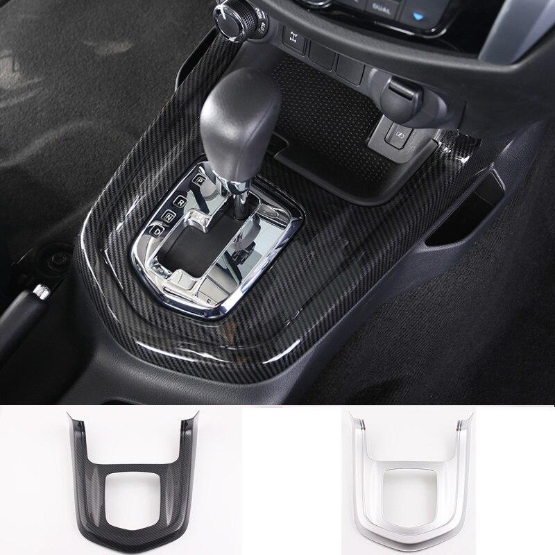Autocollants de décoration interne de voiture   ABS pour Nissan Navara Terra 2017-2019, couvercle de panneau de boîte de vitesse, paillettes, décorations intérieures de voiture